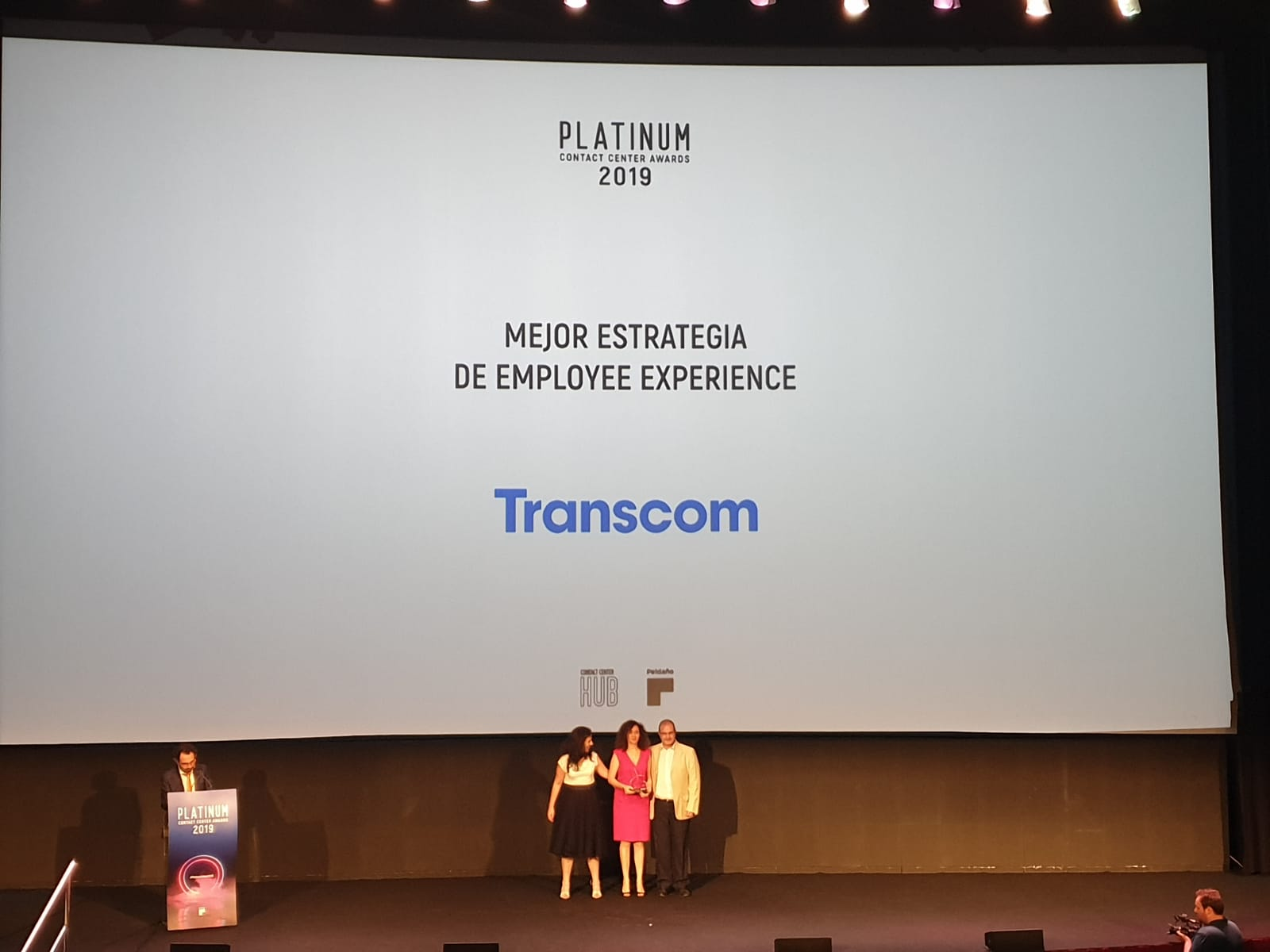 Transcom Spain wins the Platinum Contact Center Award 2019 for the Best Employee Experience