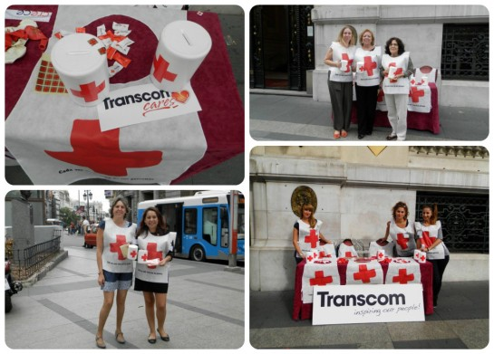 Transcom Volunteers with the Spanish Red Cross