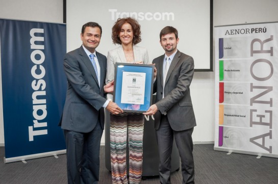 Receiving the UNE-EN 15838 accreditation for Transcom Lima