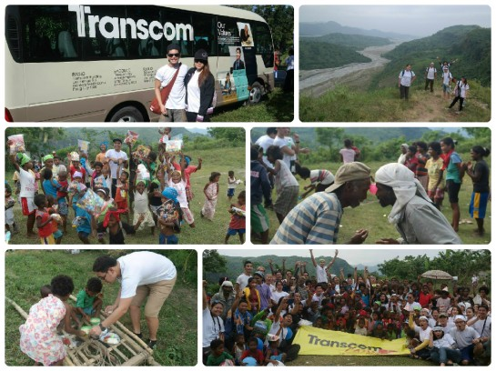 Collage Transcom Cares Aeta