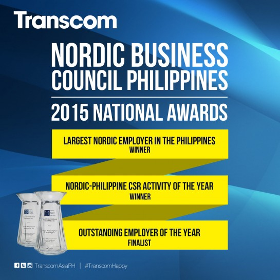 Transcom Nordic Business Council National Awards Philippines