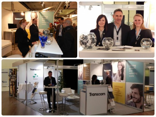 Transcom stand and the German team at CCW 2015