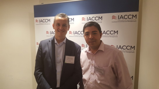 Alvaro and Martin at the IACCM Meeting.