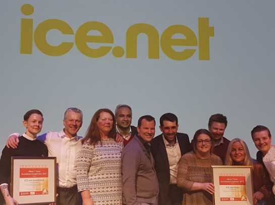 All the happy winners from ICE.NET, TelePerformance and Transcom.